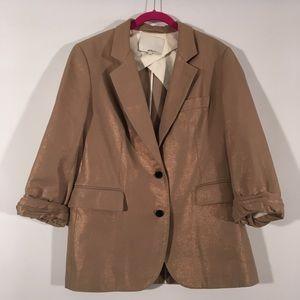 3.1 Phillip Lim Gold Shiny Jacket Blazer 8